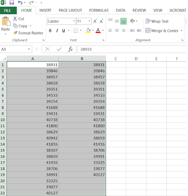How to find duplicate values in two list in Microsoft Excel