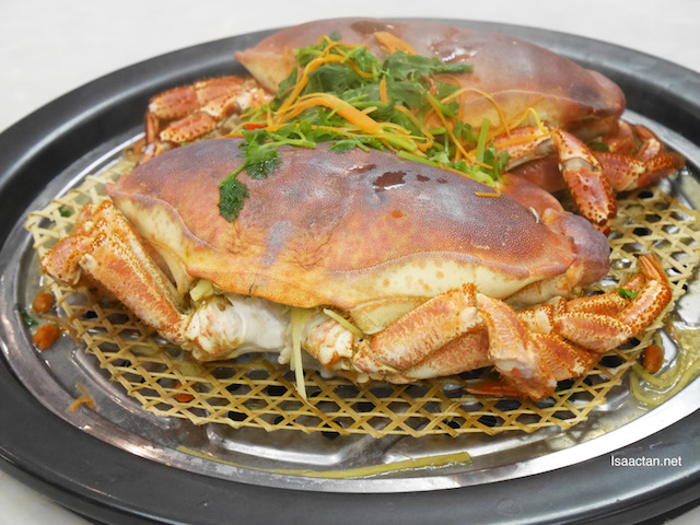 French Mud Crab going on the steamer