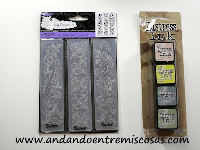 Carpetas de embosar y tintas Distress mini