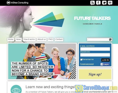 Website online survey Future Talkers | SurveiDibayar.com