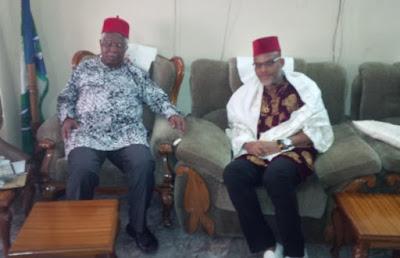 Mazi Nnamdi Kanu visits Alex Ekwueme