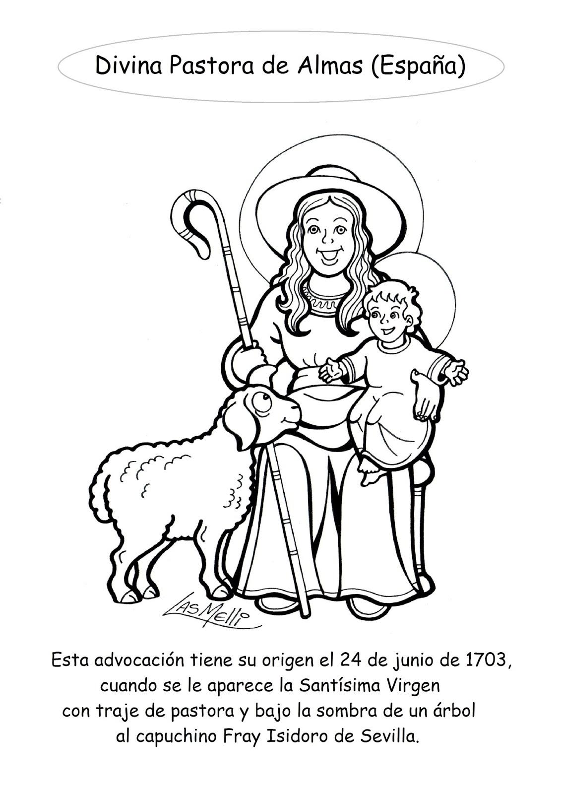 Excepcional Buena Pastora Para Colorear Inspiración - Enmarcado Para ...