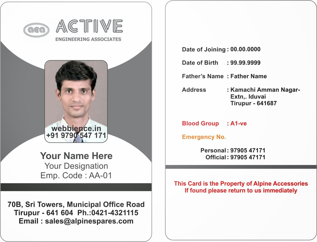 template galleries employee id card templatres new 2014082c