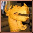 Cabeza de dragón 2. Talla de Serapio Hernandez.