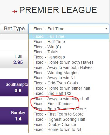 Step 11 - View other betting options - Quick Selection Soccer Betting - Hollywoodbets Mobile