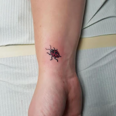 Wrist Cute Ladybug Tattoo