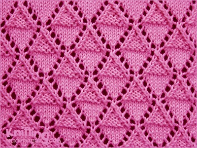 Stockinette And Garter Diamonds Knitting Stitch Patterns