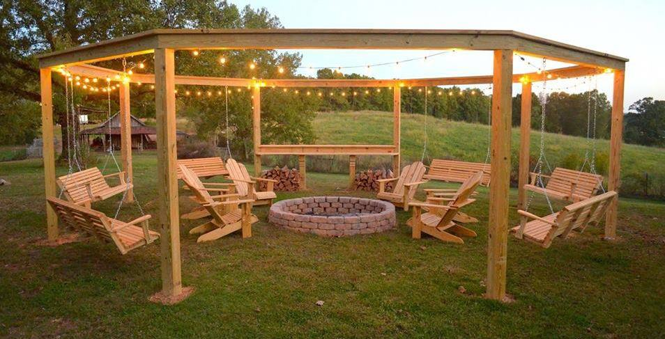 How to Build a Pergola and Fire Pit with Swings