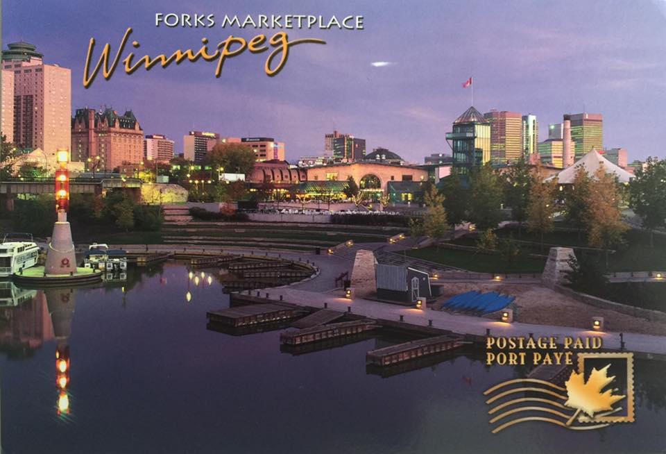 Carte Canada Manitoba.Postcard A La Carte 2 Canada Manitoba Winnipeg Folks Marketplace