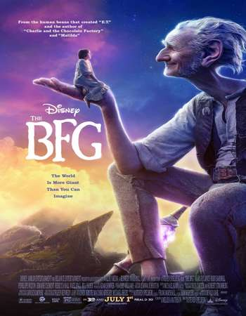 Poster Of The BFG 2016 Dual Audio 350MB HDCAM 480p Free Download Watch Online Worldfree4u