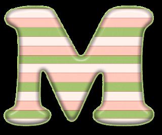 Abecedario con Rayas Horizontales. Alphabet with Horizontal Stripes.