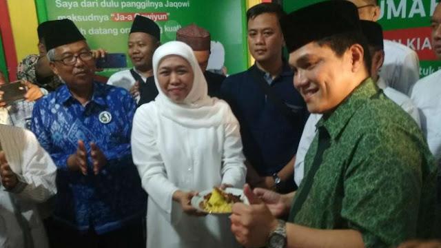 Erick Thohir: Dukung Jokowi, Khofifah bagai Pemain Tanpa Bola