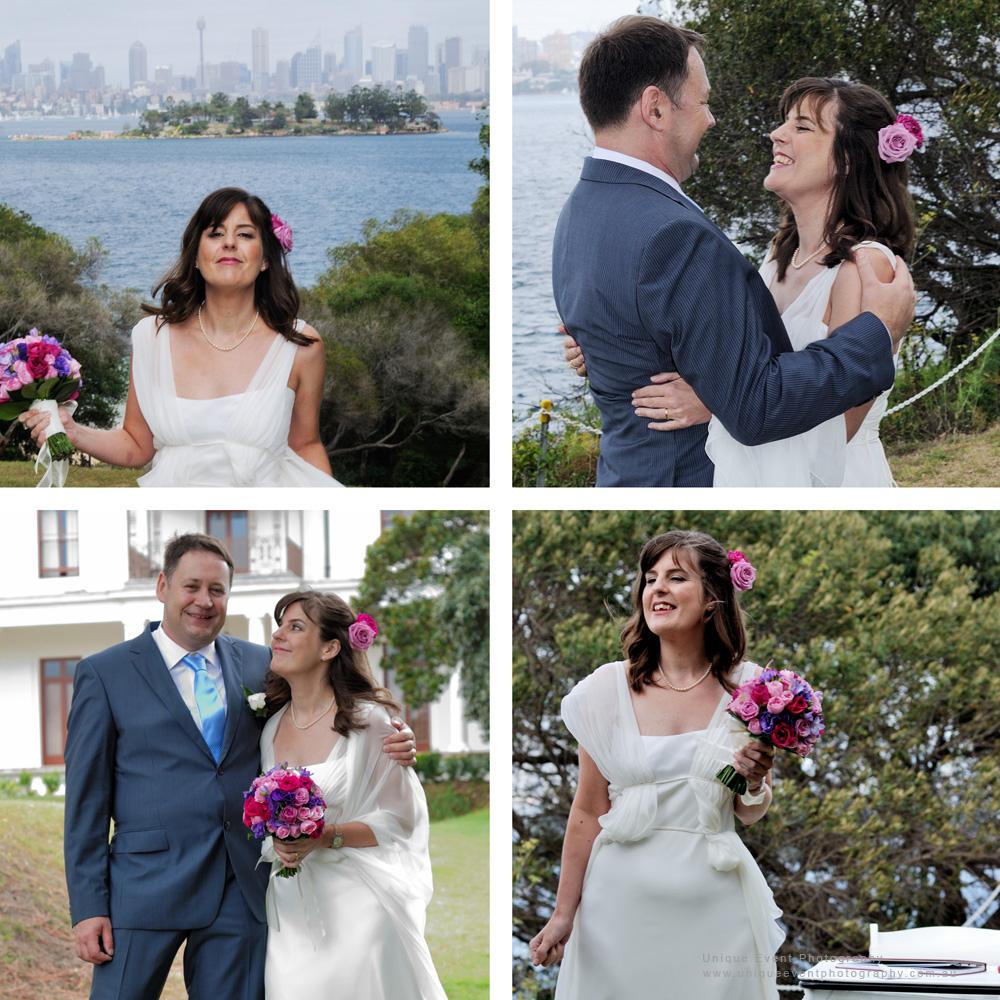 Garden Wedding Photographer Sydney. The beautiful bride and her husband.