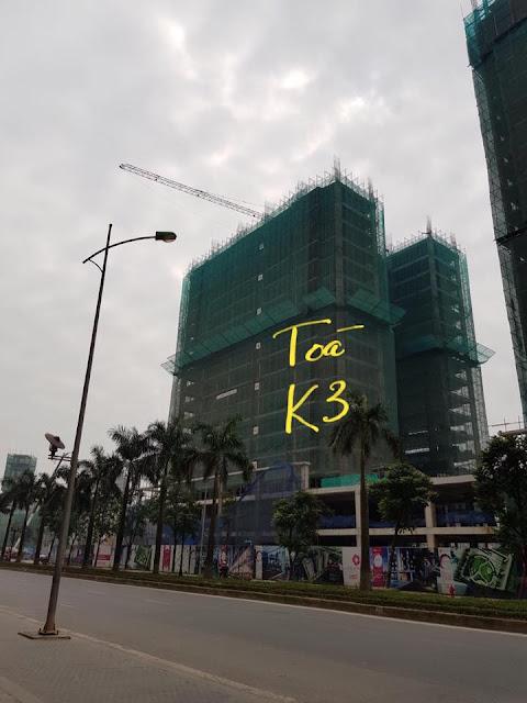 Tòa K3 hiện đang được thi công đến tầng 18