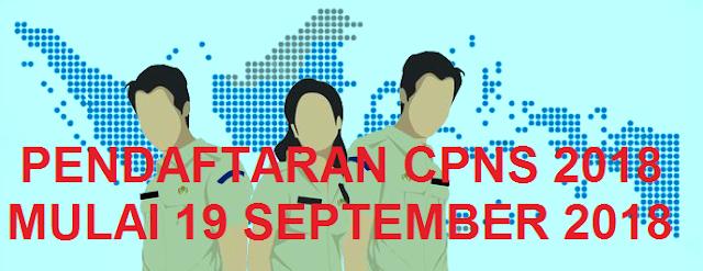 Pada Rapat Koordinasi Nasional Pengadaan CPNS oleh Badan Kepegawaian Negara  PENDAFTARAN CPNS 2018 MULAI 19 SEPTEMBER 2018 MELALUI http://sscn.bkn.go.id