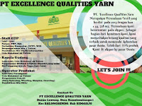 lowongan kerja staff gudang excellence qualities yarn surabaya