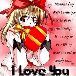 Anime valentine card anime happy valentine love gallery - Happy valentines day anime ...