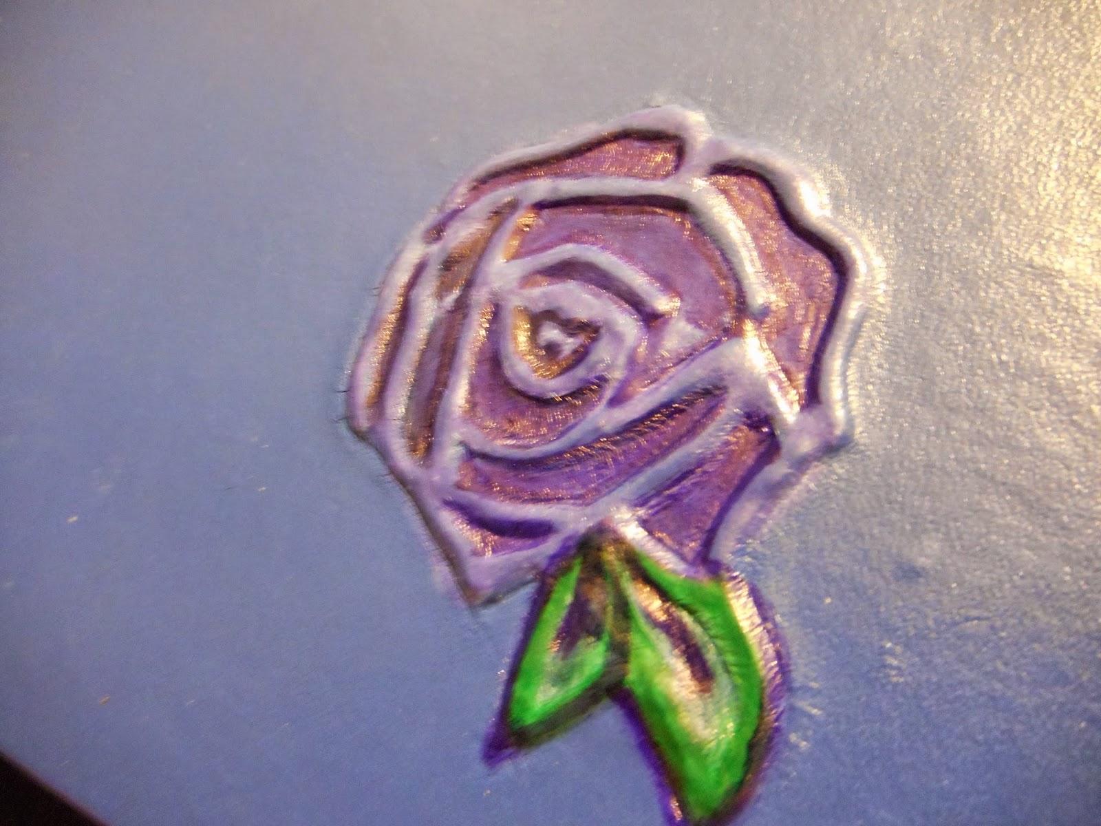 piel flor tintado