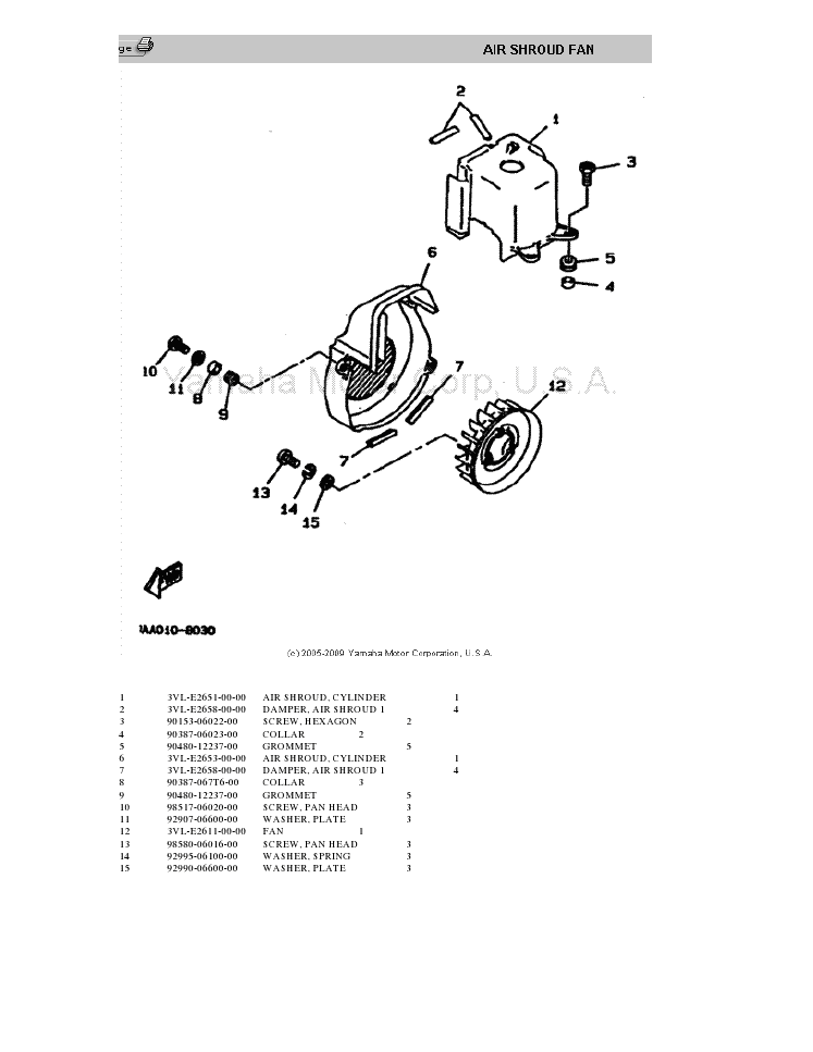 Yamaha CW50TJ Parts List Zuma II ~ Free PDF Manual