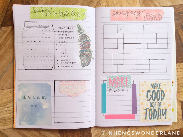 My 2018 Budget Planner Tracker - Savings and Emergency Tracker