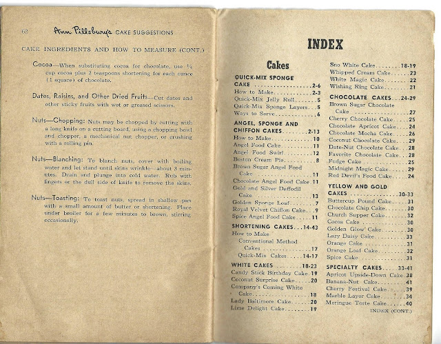 Index page for Ann Pillsbury Cakes