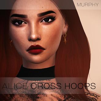 Alice Cross Hoops