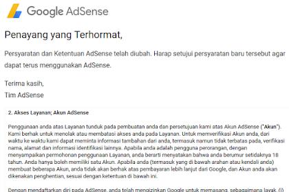 Persyaratan dan Ketentuan AdSense 2018
