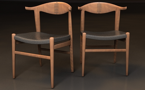 woody chair 3d model free
