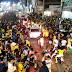 Torcedores tomam avenida no centro de Tobias Barreto para comemorar a classificação da Seleção Brasileira