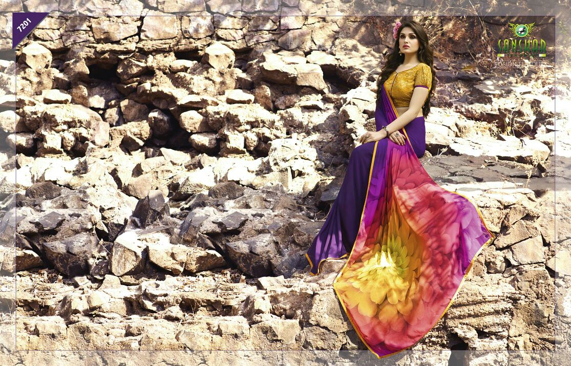 Sabya – 2- Latest Fashion Stylish Beautiful Heavy  Georgette Saree