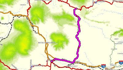 Tasikmalaya-Cikijing jalur normal via Ciamis