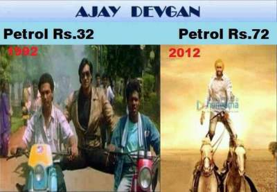 Ajay Devgan and Petrol Price funny