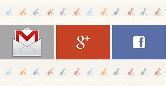 En el 2º ejercicio comenzaremos nuestra actividad en la red con gmail, google+ y facebook