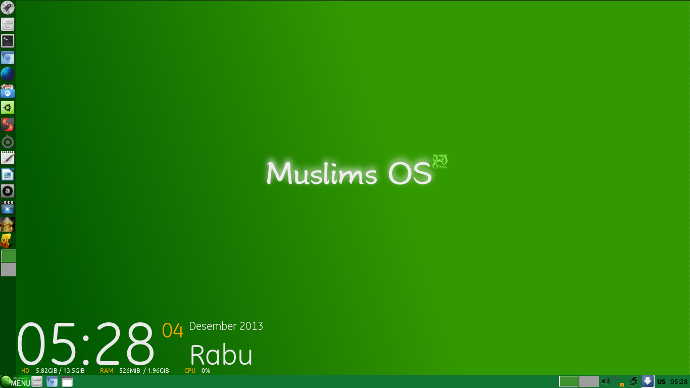 Tampilan Muslims Os Distro Linux Asli Indonesia Khusus Muslim