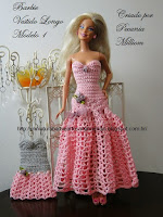 Vestido de Festa de Crochê Modelo 1 - Criação de Pecunia M. M.