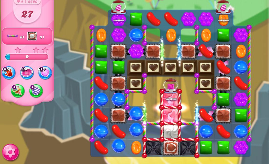 Candy Crush Saga level 6690