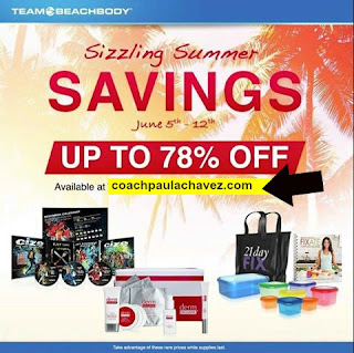 BEACHBODY SUMMER SALE, SUMMER SALE, BEACHBODY SALE, coach latina, paula chavez