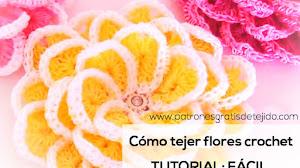 Aprende a Tejer Flores Crochet Super Fáciles / Tutorial en español