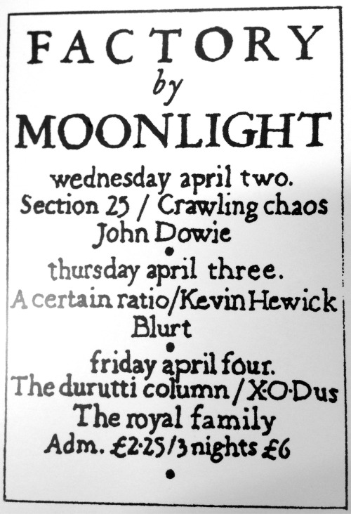 03 Apr 1980, Moonlight Club, West Hampstead, London - ACR Gigography