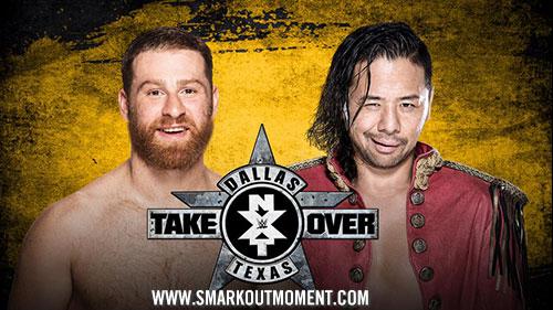 WWE NXT TakeOver: Dallas Shinsuke Nakamura vs Sami Zayn