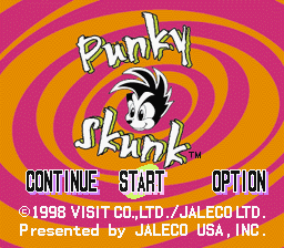 Punky Skunk title screen