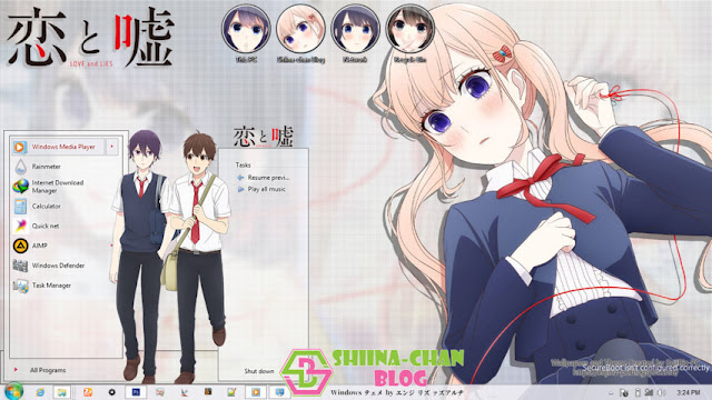 Download Tema Windows 8/8.1 Koi to Uso by Enji Riz