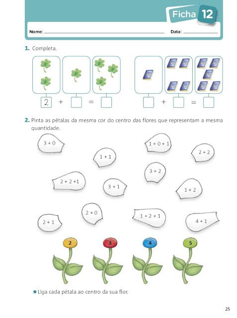 fichas de matematica 1 ano para imprimir