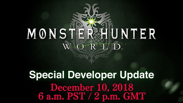 Special Developer Update Video Presentation For Monster Hunter: World Set For December 10