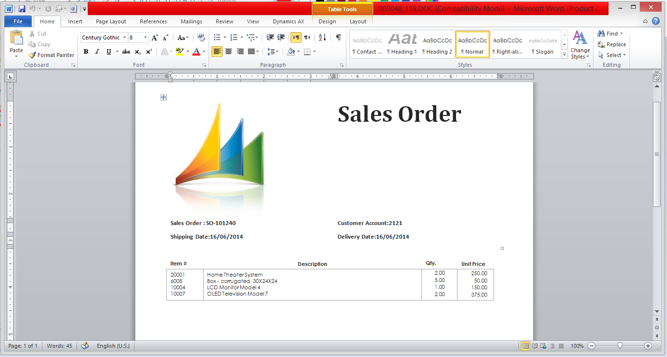 dynamics ax tips  export sales order data to ms word template with dynamics ax 2012   document