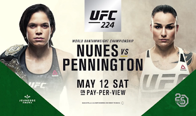 Ver repeticion UFC 224 Nunes vs Pennington Gratis y En HD