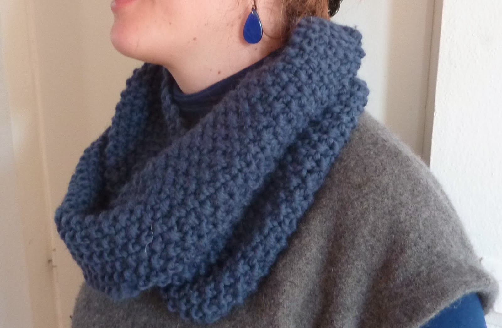 tricoter un snood double