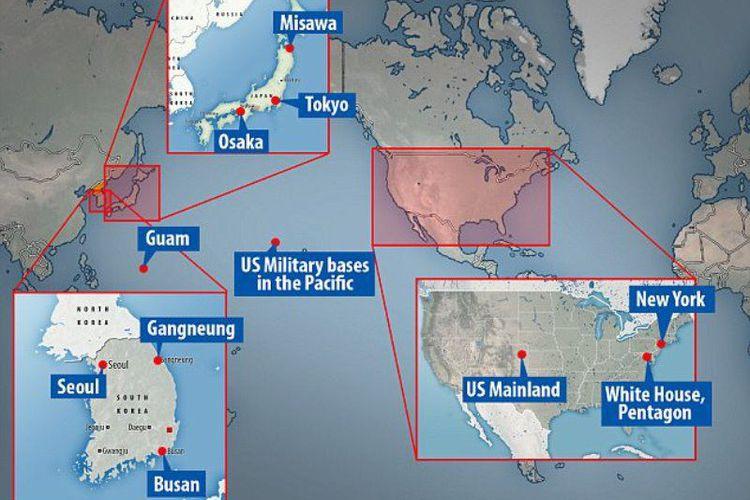 Inilah Beberapa Negara Yang Menjadi Sasaran Nuklir Korut