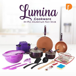 Lumina Cookware Aluminium Non Stick (Set of 44)