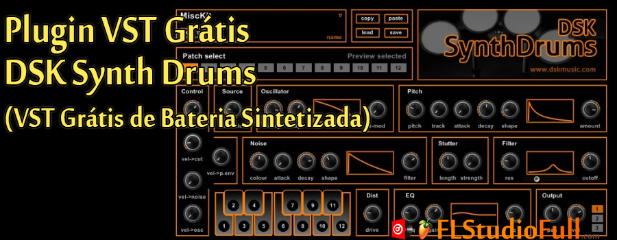 Plugin VST Grátis DSK Synth Drums (Plugin VST de Bateria)